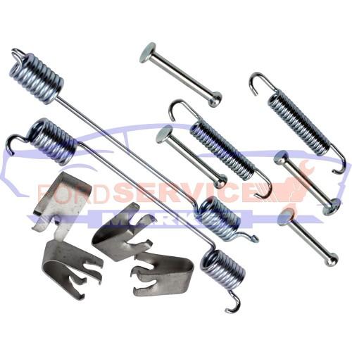 Пружины и направляющие комплект для заднего барабана неоригинал для Ford Fiesta 6 c 02-08, Fusion c 02-12