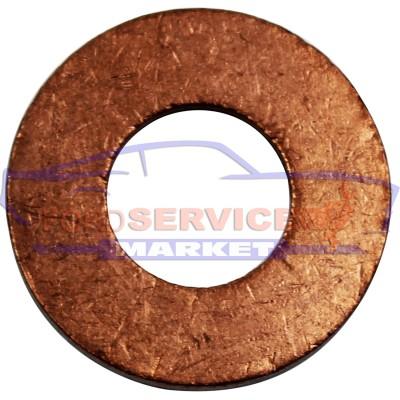 Шайба медная прокладка болта слива масла 10х21х2 аналог для Ford с 1.4-1.5-1.6-2.0-2.2 TDCi