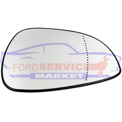 Стекло зеркала RH сферическое с обогревом неоригинал для Ford Fiesta 6 c 06-08, Fusion c 06-09, Focus 2 c 04-08, C-Max 1 c 03-07, Mondeo 3 c 04-07