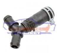 Патрубок охлаждения от термостата к тройнику с тройником оригинал для Ford Fiesta 6 c 02-08, Fusion c 02-12