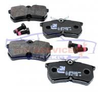 Тормозные колодки дисковые задние неоригинал для Ford Fiesta 6 ST150 c 04-08, Fiesta 7 ST180 c 13-17, Focus 1 c 98-04