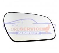 Стекло зеркала правого вкладыш RH с подогревом круглое крепление аналог для Ford Fiesta 6 c 06-08, Fusion c 06-09, Focus 2 c 04-08