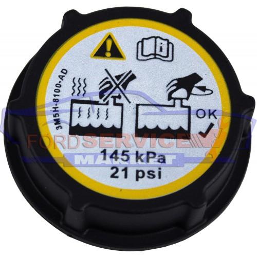 Крышка бачка охлаждения неоригинал для Ford Focus 2,3 c 04-18, C-Max 1,2 c 03-20, Fiesta 7 c 08-18, Mondeo 4 c 07-12