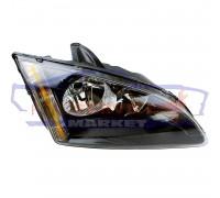 Фара передняя правая черная неоригинал для Ford Focus 2 c 04-07
