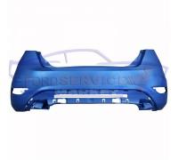 Бампер задний неоригинал для Ford Fiesta 7 c 08-17 (под парктроники)