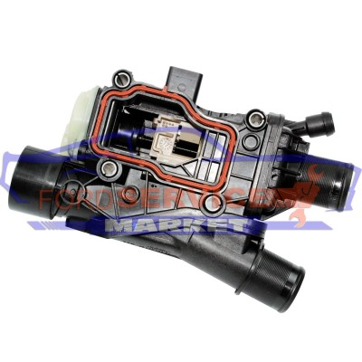 Термостат всборе с электроприводом оригинал для Ford 2.0 TDCi DW10F