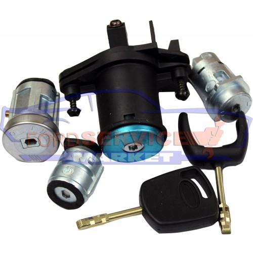 Личинки замков аналог для Ford Fiesta 6 c 02-08, Fusion 02-12, комплект 4шт, 2 ключа