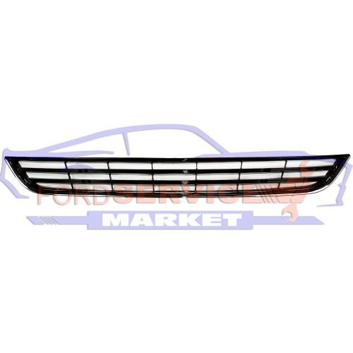 Решетка переднего бампера нижняя хром глянец неоригинал для Ford Fiesta 7 с 12-18