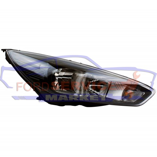 Фара передняя правая черная неоригинал для Ford Focus 3 c 14-
