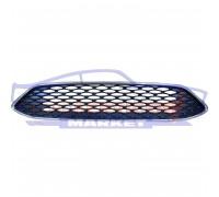 Решетка переднего бампера хром полоски неоригинал для Ford Focus 3 c 14-18