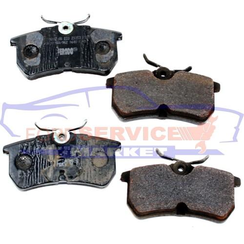 Тормозные колодки дисковые задние Б/У неоригинал для Ford Fiesta 6 ST150 c 04-08, Fiesta 7 ST180 c 13-17, Focus 1 c 98-04