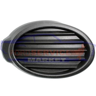 Накладка заглушка ПТФ левая черная структура неоригинал для Ford Focus 3 с 11-14