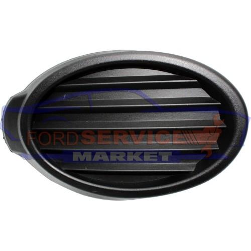 Накладка заглушка ПТФ правая черная структура неоригинал для Ford Focus 3 с 11-14