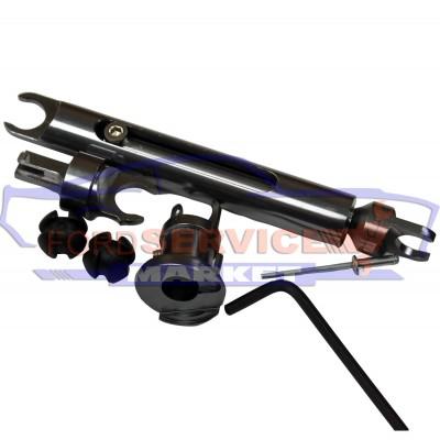 Тяга замка капота штанга кардан алюминиевый аналог для Ford Focus 2 c 04-11, C-Max с 07-10