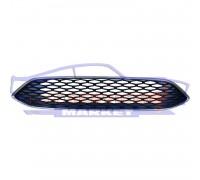 Решетка переднего бампера (сота матовая) неоригинал для Ford Focus 3 c 14-18