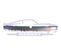 Накладка спойлера переднего бампера нижняя серебристая неоригинал для Ford EDGE c 15-