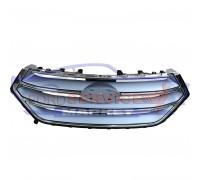 Решетка переднего бампера центральная серый металик с хром рамкой аналог для Ford Edge c 15-18
