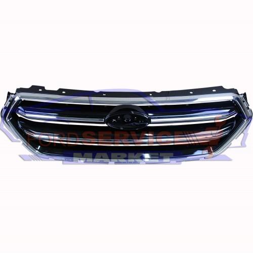 Решетка переднего бампера черная хром неоригинал для Ford Kuga 2 c 16-19, Escape c 17-19