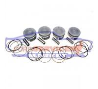 Поршень с кольцами и пальцем +0.50 аналог для Ford с 2.3 Duratec HE, комплект 4шт