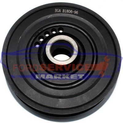 Шкив коленвала неоригинал для Ford Focus 2 c 04-11, C-Max 1 c 03-10 1.4-1.6 Sigma/Duratec