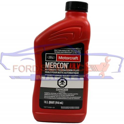 Масло трансмиссионное MERCON ULV 0.946л для АКПП Ford 10R80 / 8F35 / 8F40 / 8F57 с 2017-, для АКПП Ford 6F15 с 2018-